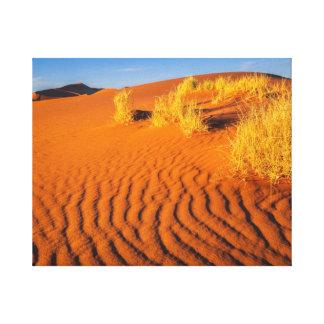 日没のナミビアの砂漠 キャンバスプリント