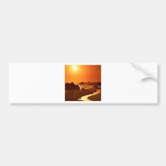日没のハリスのビーチオレゴン バンパーステッカー