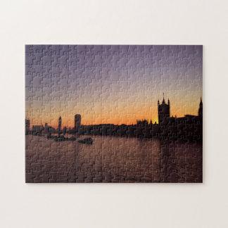 日没のパズルのロンドン ジグソーパズル