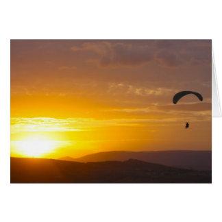 日没のパラグライダー カード