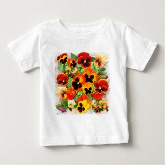 日没のパンジー ベビーTシャツ