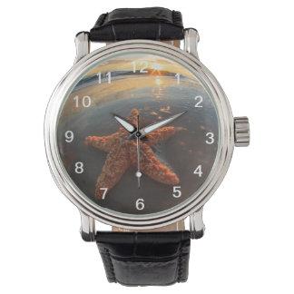 日没のヒトデそして泡 腕時計
