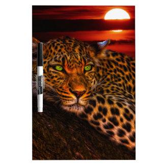 日没のヒョウ ホワイトボード