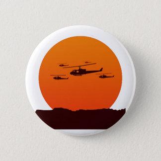 日没のビーチのチョッパー 缶バッジ