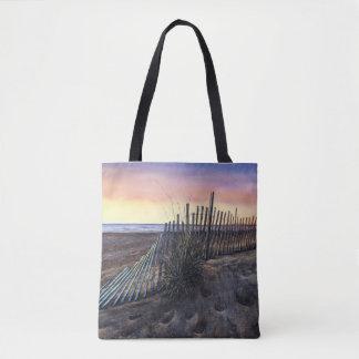 日没のビーチのトートバック トートバッグ