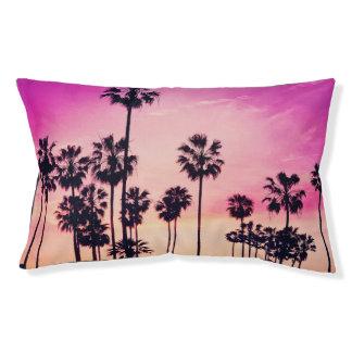 日没のビーチ場面、紫色の熱帯空