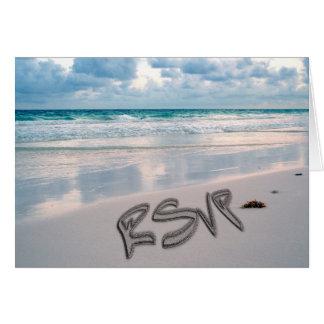 日没のビーチ結婚式RSVP カード