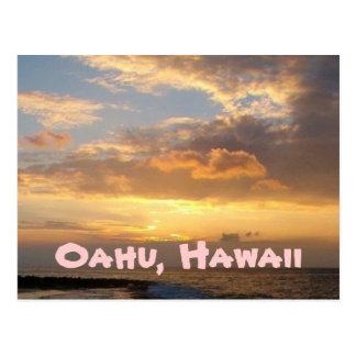 日没のビーチ、オアフ ポストカード