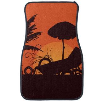 日没のビーチ カーマット