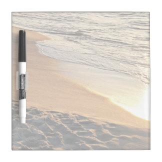 日没のビーチ ホワイトボード