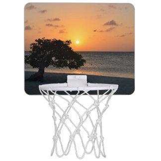 日没のビーチ ミニバスケットボールゴール