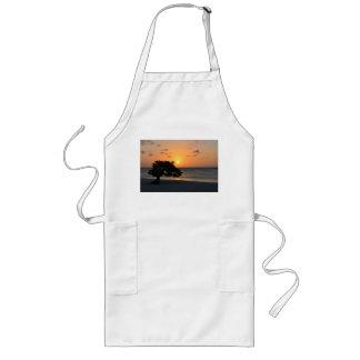 日没のビーチ ロングエプロン