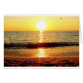 日没のビーチ、Cape May NJ カード