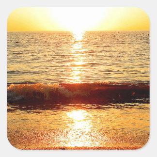 日没のビーチ、Cape May NJ スクエアシール
