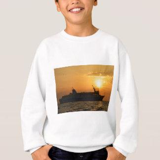 日没のフェリー スウェットシャツ