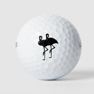 日没のフラミンゴ ゴルフボール