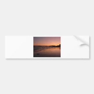 日没のブライトン桟橋 バンパーステッカー