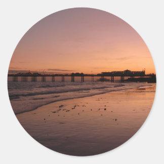 日没のブライトン桟橋 ラウンドシール