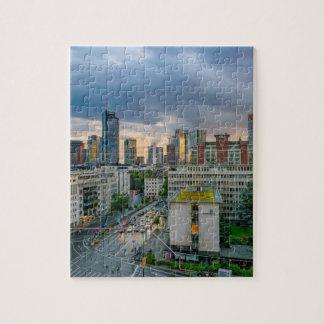 日没のブランクフルトのスカイライン ジグソーパズル