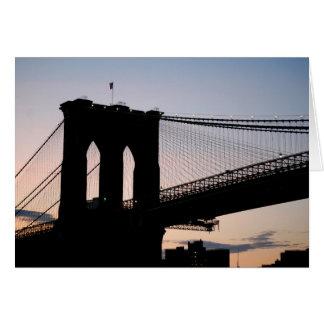 日没のブルックリン橋 カード