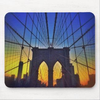 日没のブルックリン橋 マウスパッド