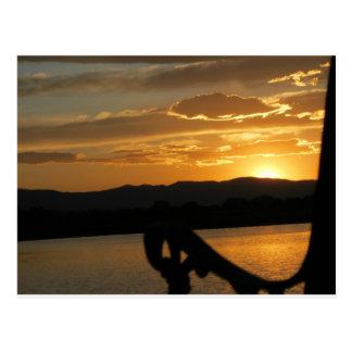 日没のベンチ ポストカード