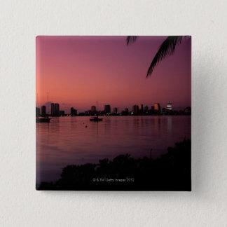 日没のマイアミのスカイライン 缶バッジ