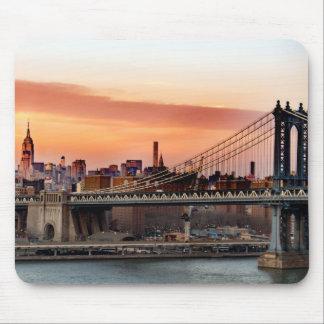日没のマンハッタン橋 マウスパッド