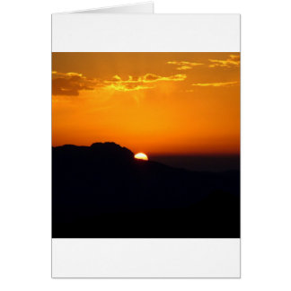 日没のモロッコの白熱 カード