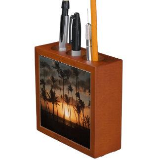 日没のヤシの木 ペンスタンド