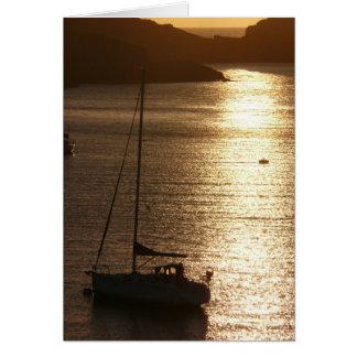日没のヨット カード