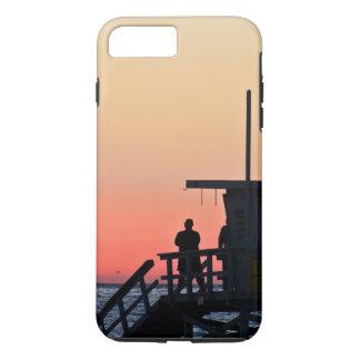 日没のライフガードの場所のビーチの例 iPhone 8 PLUS/7 PLUSケース