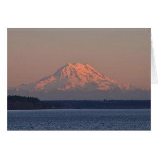 日没のレーニア山そしてNisquallyの範囲 カード