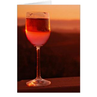日没のワインの試飲のパーティー カード