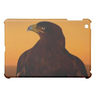 日没のワシのシルエット iPad MINI カバー