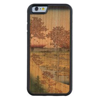 日没の丘、東の首都のMeguro CarvedチェリーiPhone 6バンパーケース