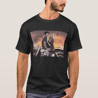 日没の乗車 Tシャツ