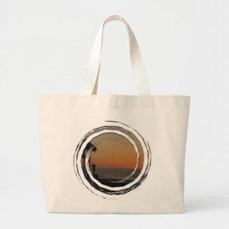 日没の休息の点 ラージトートバッグ