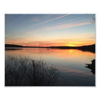 日没の写真 フォトアート