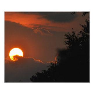日没の写真 フォトプリント