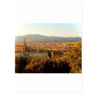 日没の前のフィレンツェ ポストカード