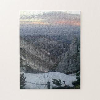 日没の前の山景色 ジグソーパズル