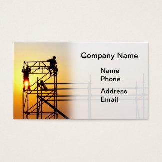 日没の労働者が付いている建築現場 名刺