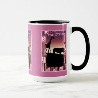 日没の動物 マグカップ