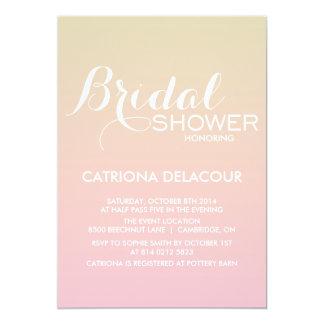 日没の勾配のグラデーションなブライダルシャワーの招待状 カード