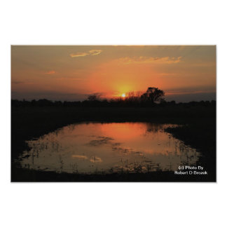 日没の反射の写真の拡大 フォトプリント
