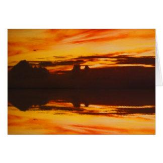 日没の反射 カード