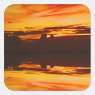 日没の反射 スクエアシール