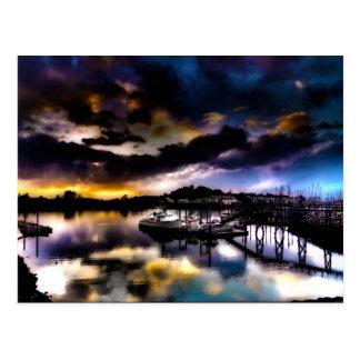 日没の反射 ポストカード