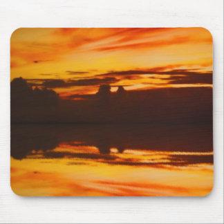 日没の反射 マウスパッド